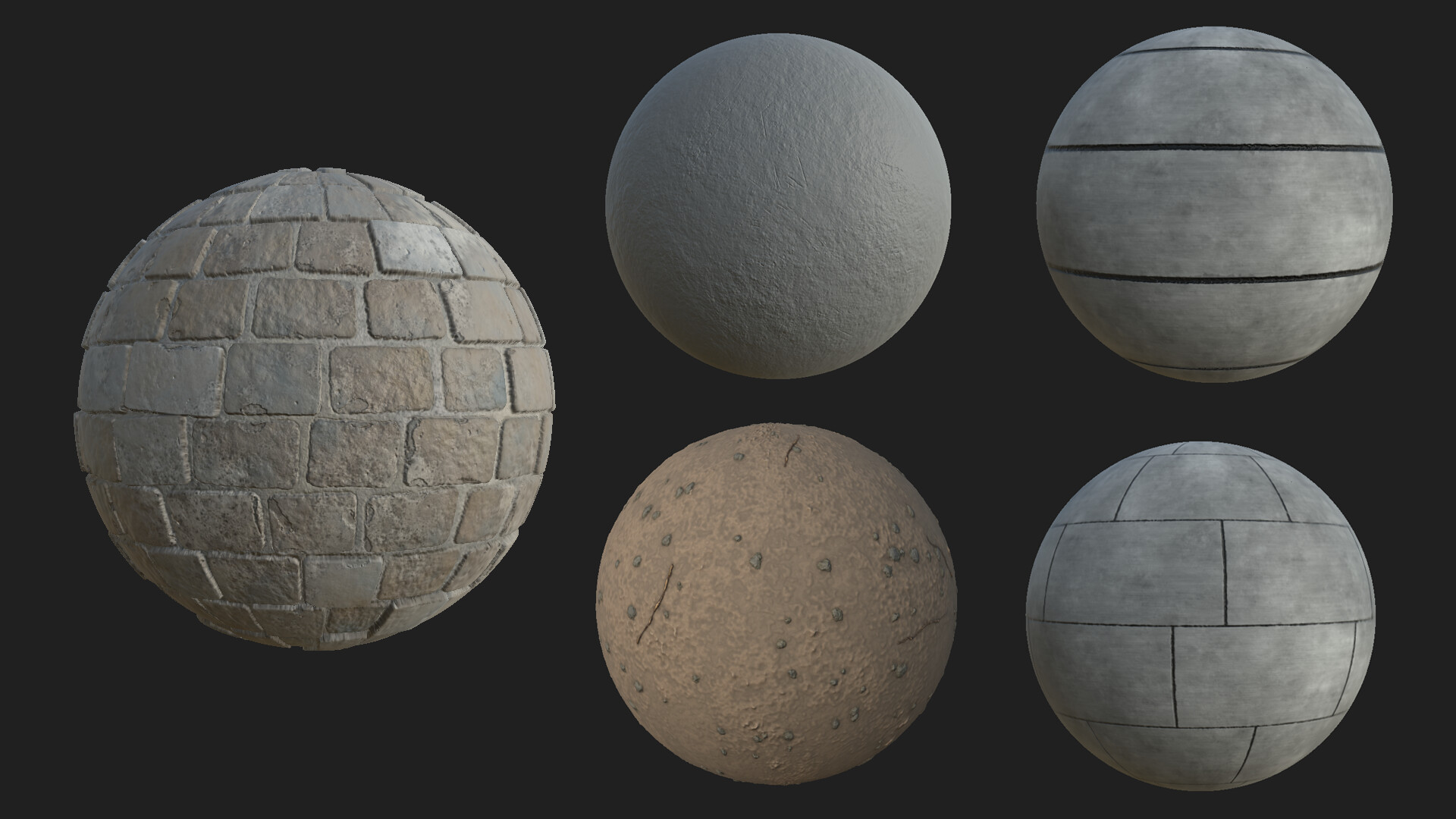 Materials and detail normal maps done in Substance Deisgner