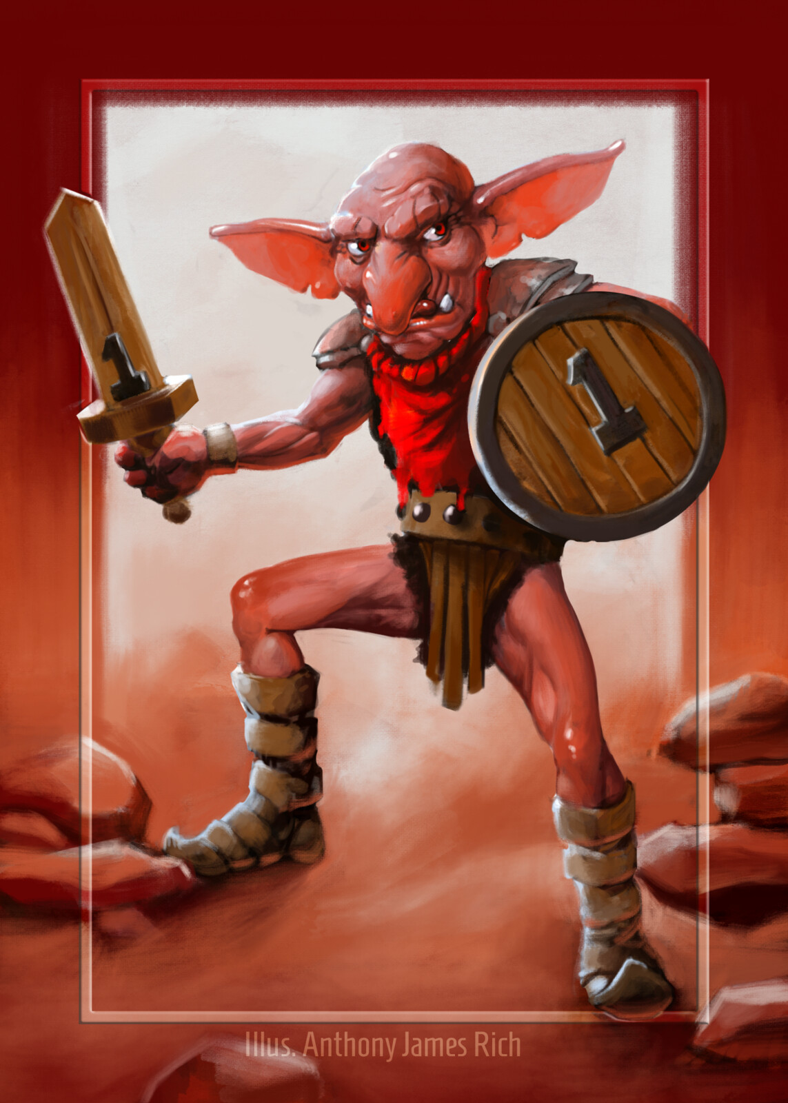 Red Goblin Creature Token