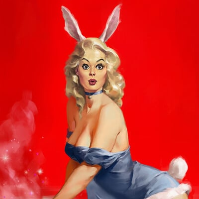Miguel iglesias hardcover bunnypinup artstation