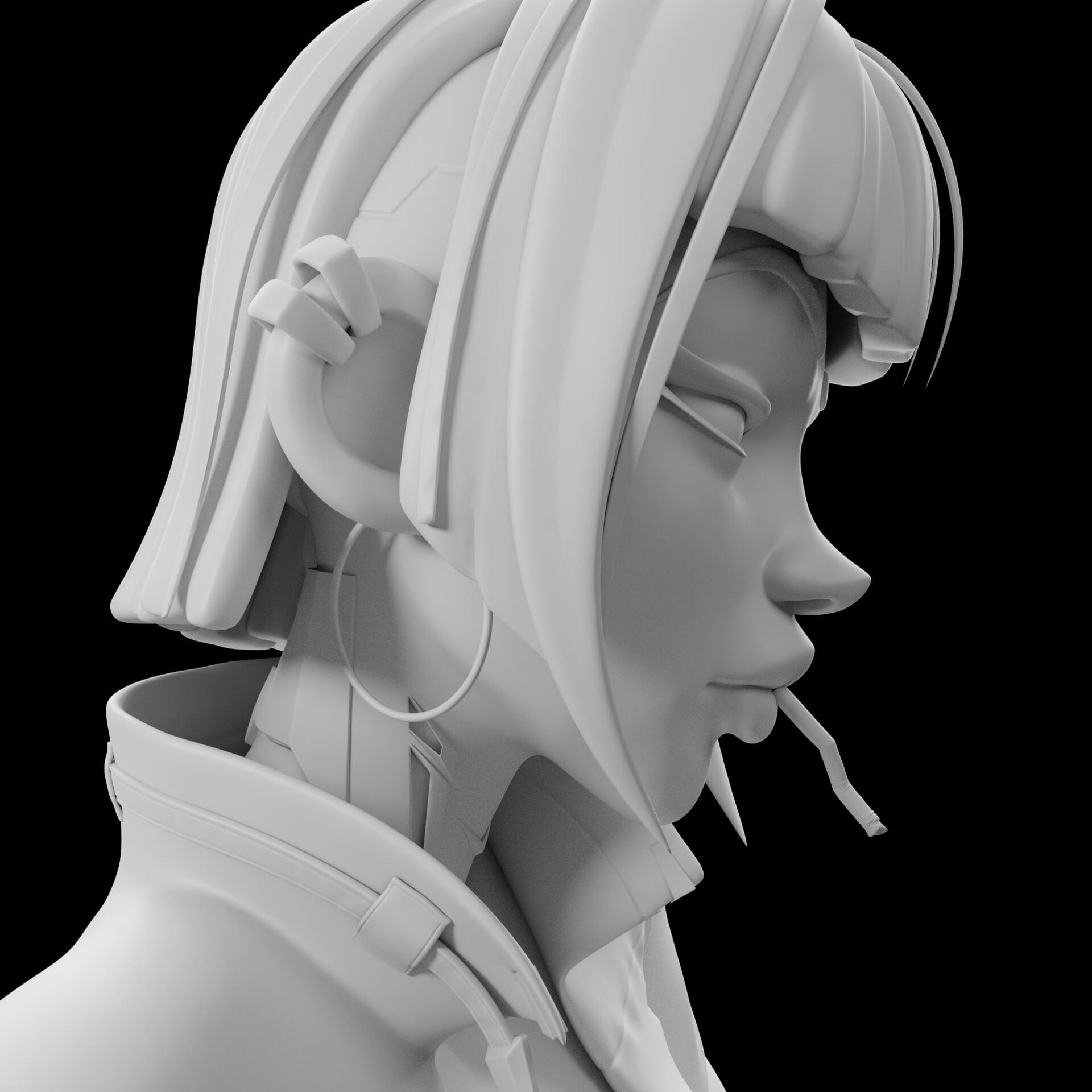 Sergi camprubi detail clay render 02