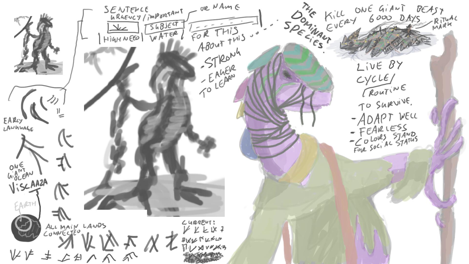 Alexander laheij alien sentient creature