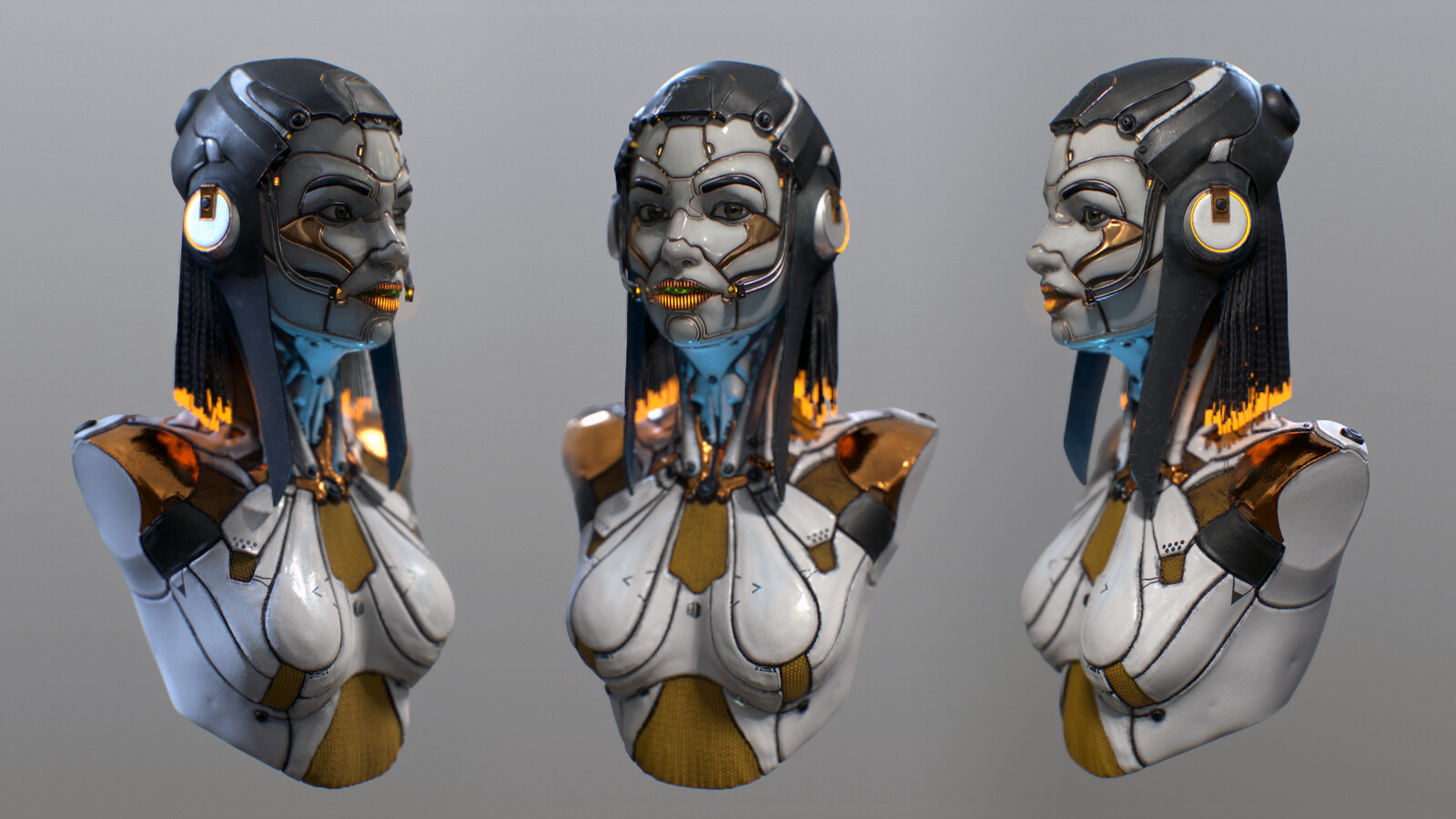 Android concept bust