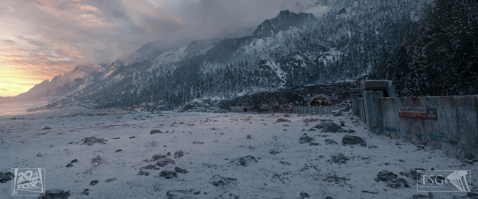 Digital Matte Painting CG Extensions and Overall Textural Enhancements.