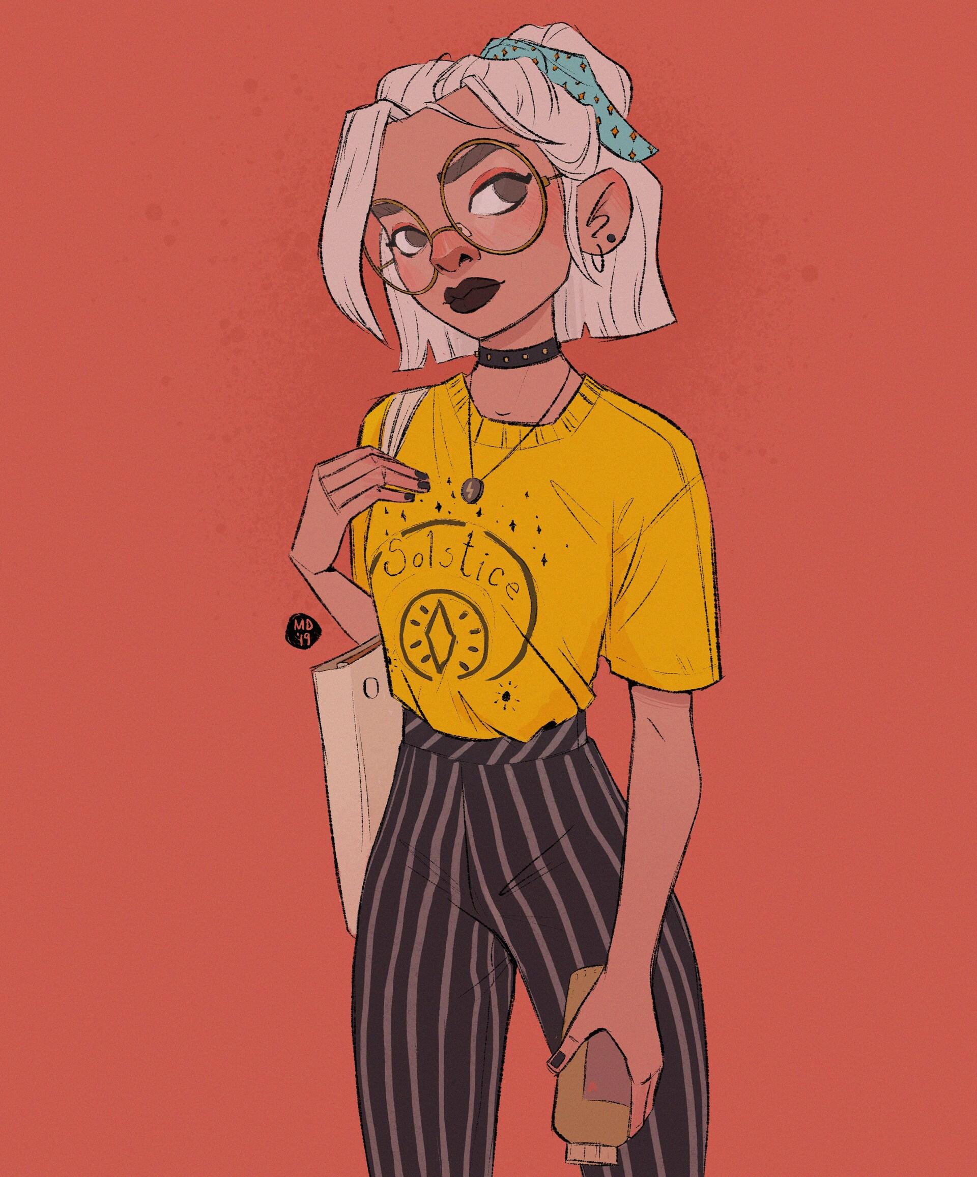 Magdalina dianova coloring page