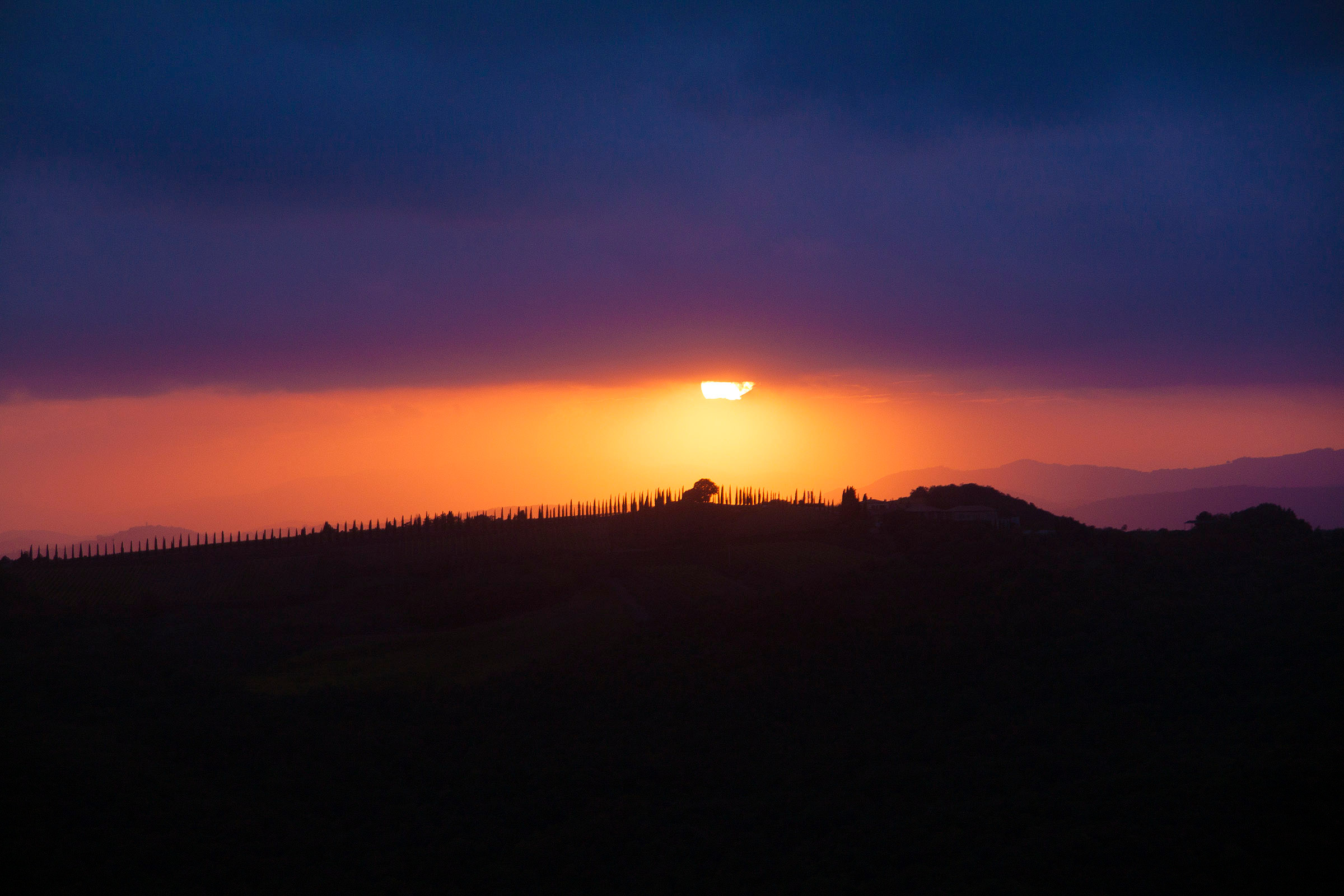 Sunset as seen from the walls of Montalcino