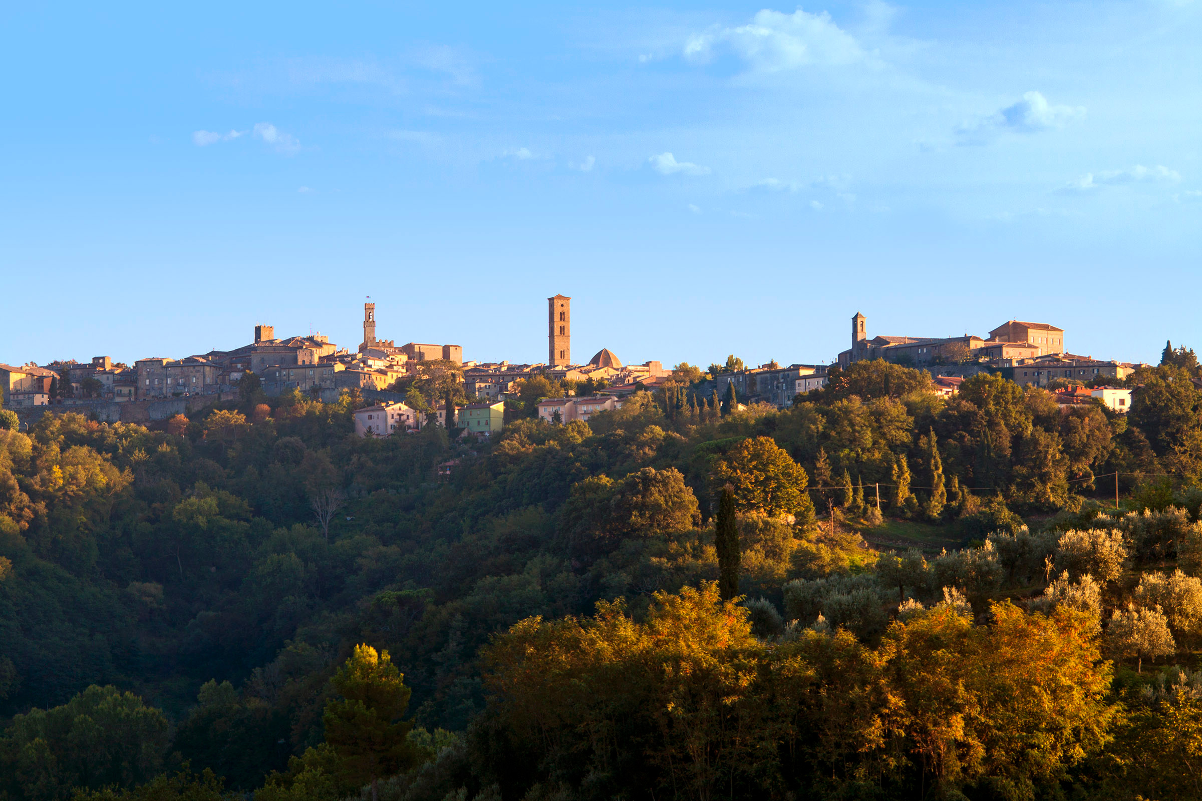The beautiful Tuscan hilltop town of Volterra