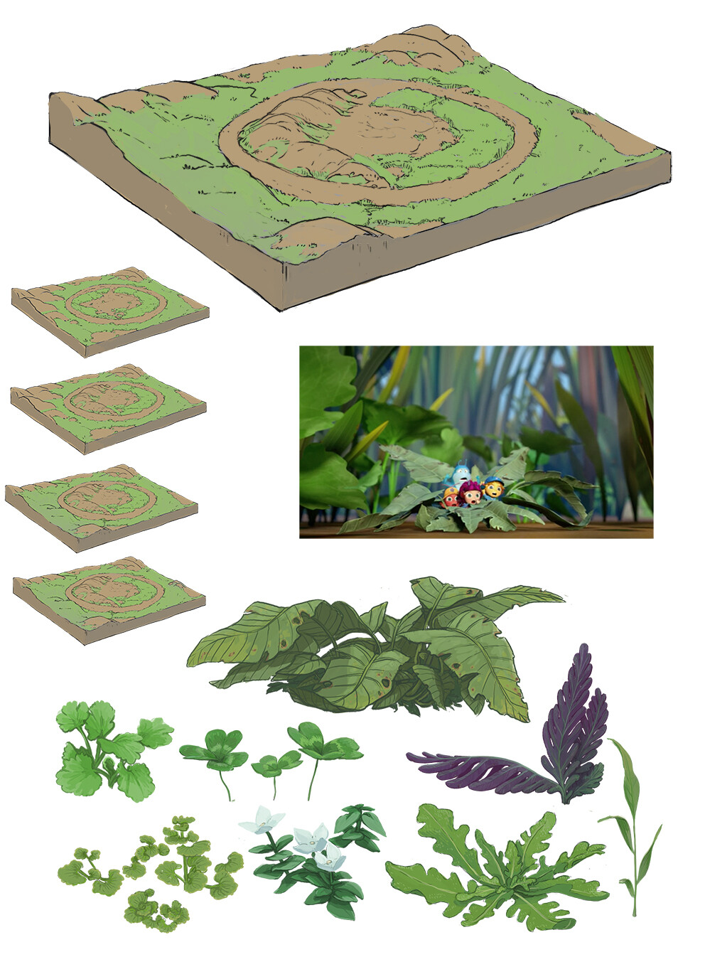 key bg overview design of the full garden set with specialty plants