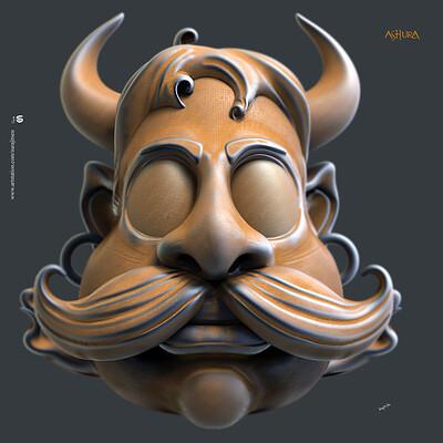 Surajit sen ashur digita sculpture surajitsen oct2019