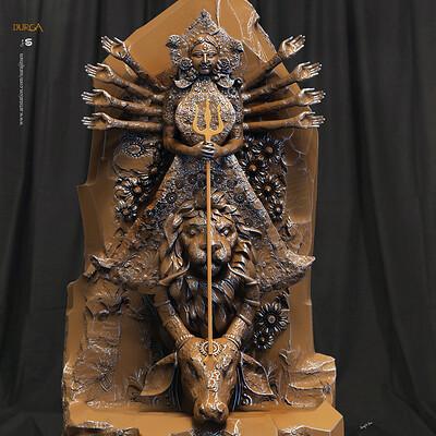 Surajit sen durga digital sculpture surajitsen oct2019