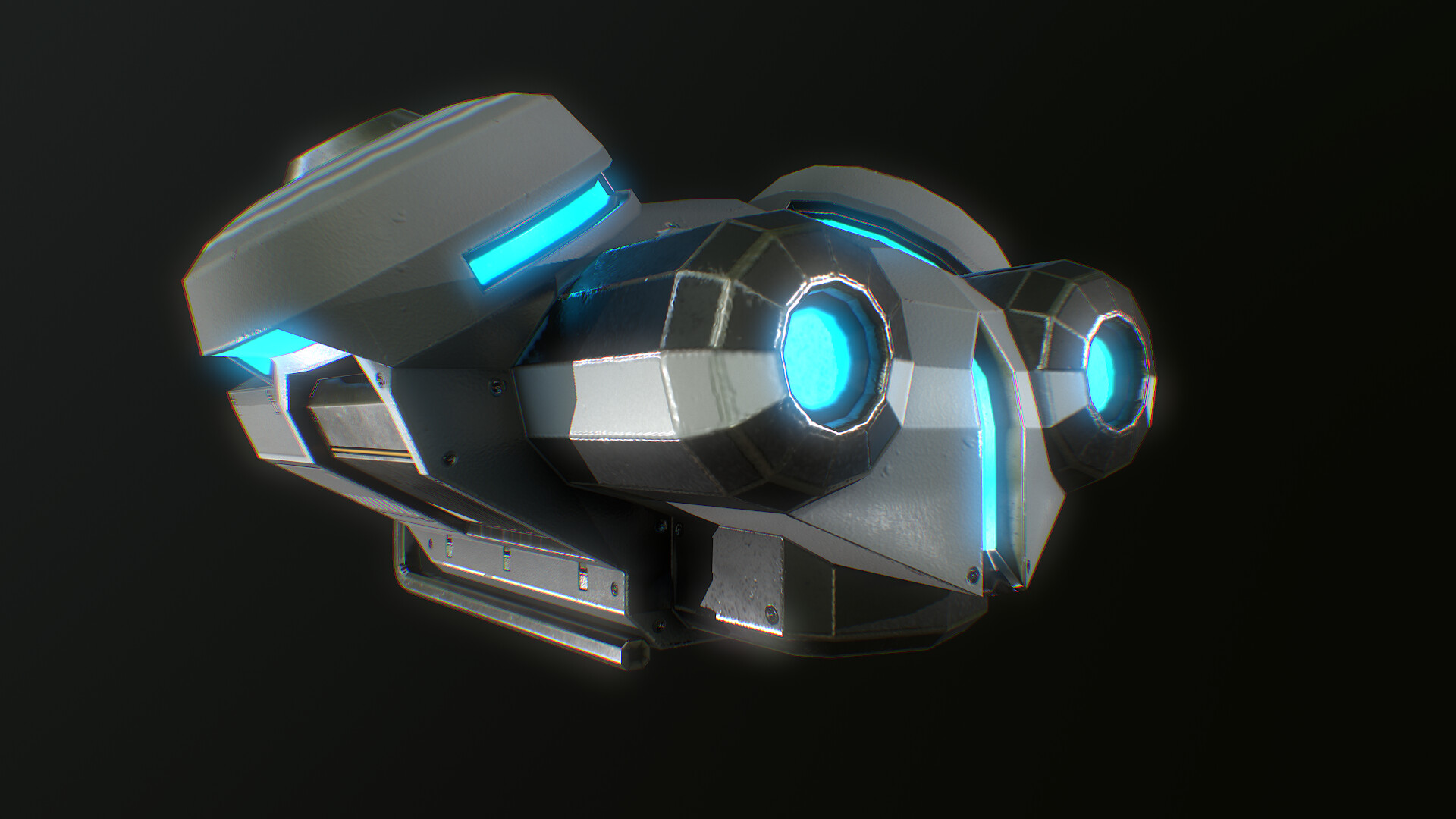 Sci Fi  NPC Drone  lowpoly game in Second Life