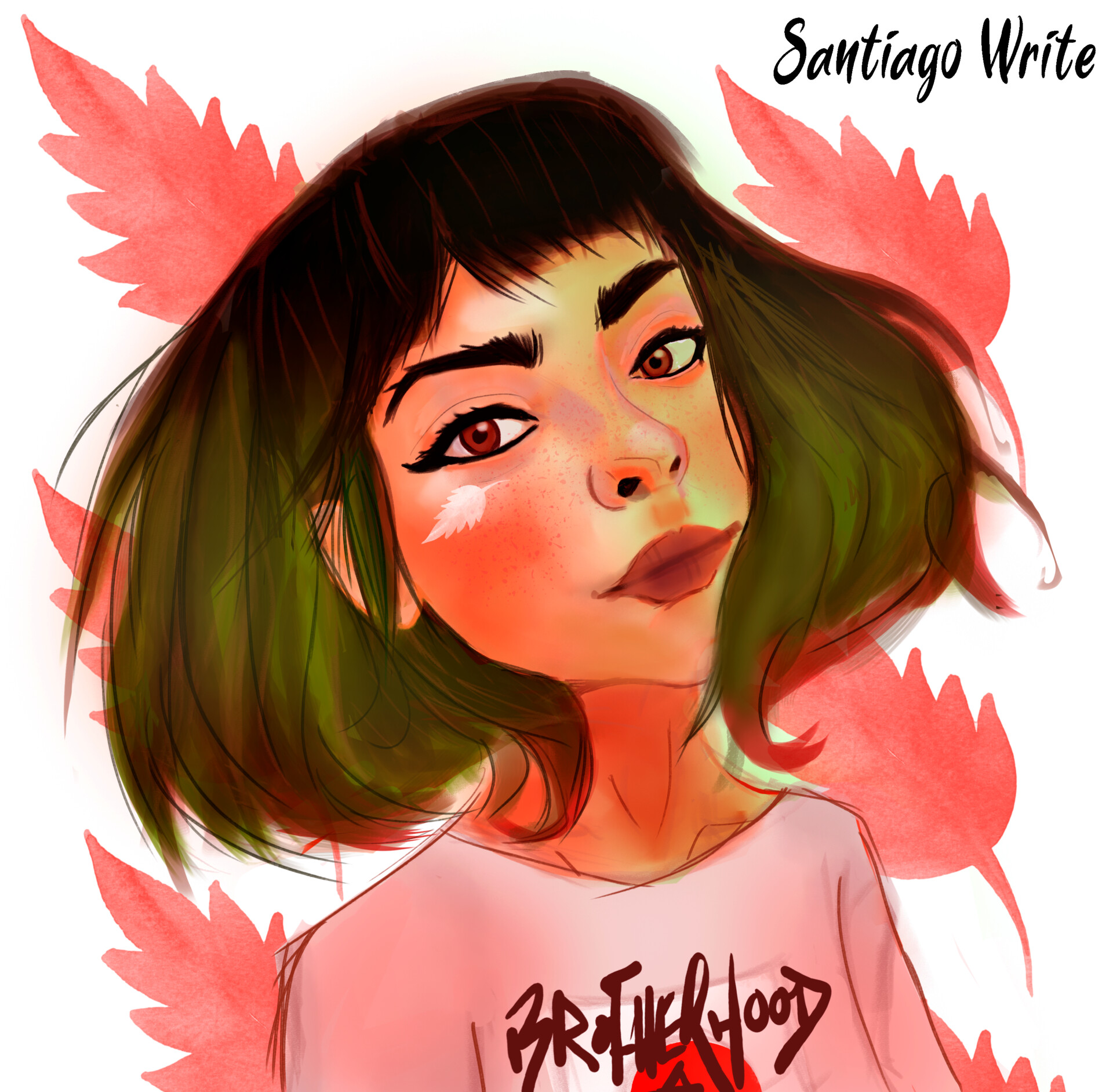 Santiago write woman 1