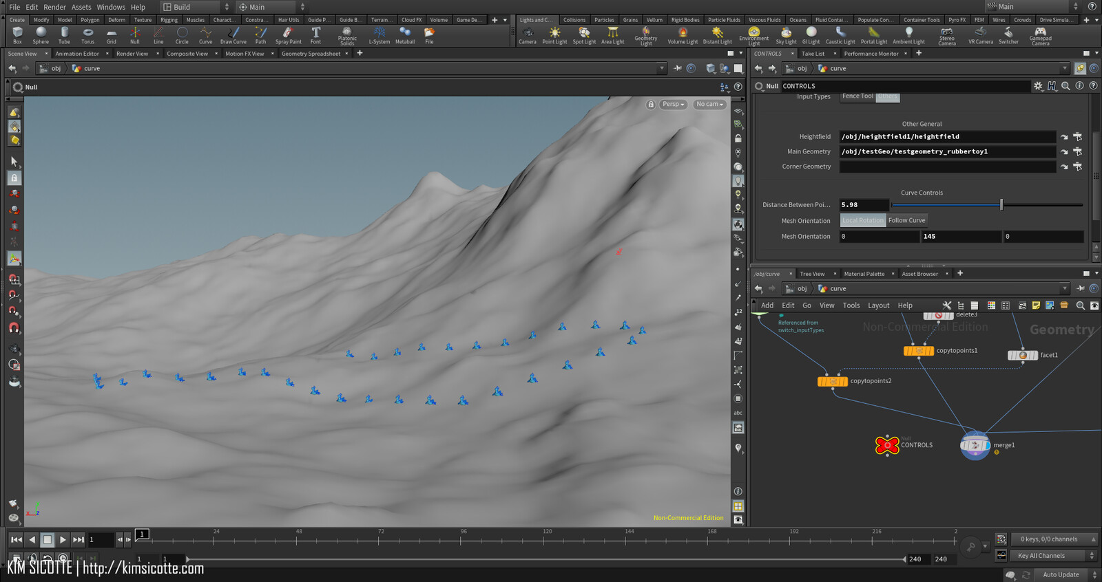 You can use any mesh to follow the curve and conform to the terrain
