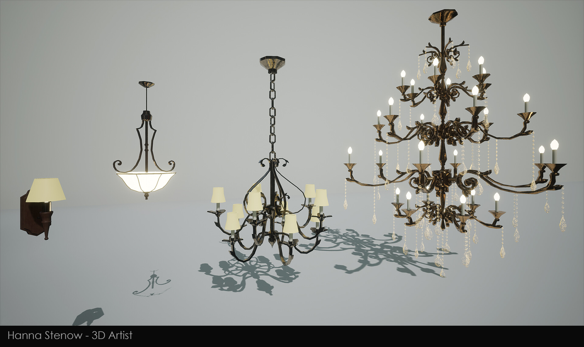 Hanna stenow lamps