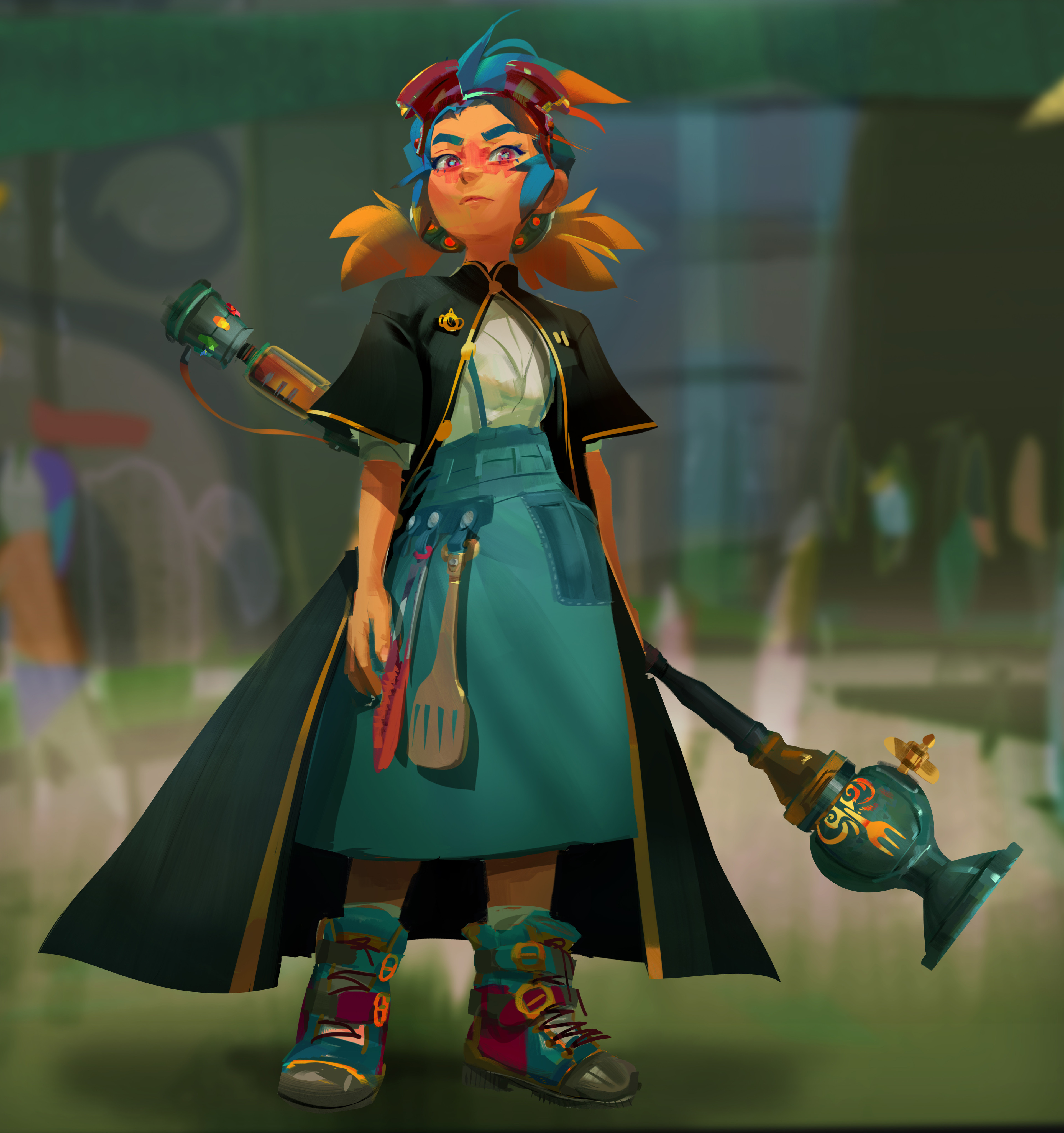 Anise, the main character. A scholarship recipient to a world renowned magical culinary academy!