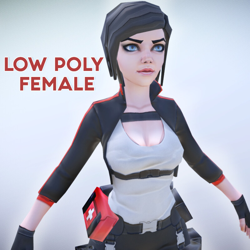 Lily - Stylized Low Poly Character - Game ready