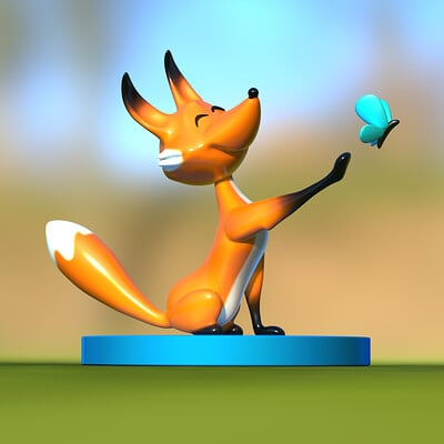 Rafael a pena maduro fox and butterfly