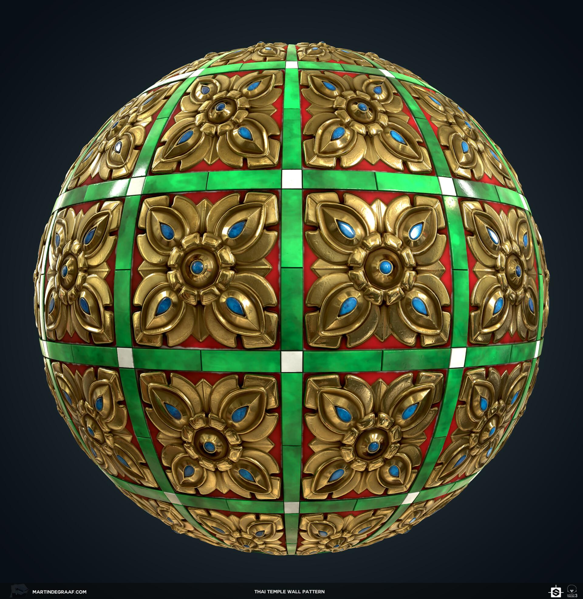 Martin de graaf thai temple wall pattern substance sphere martin de graaf 2019