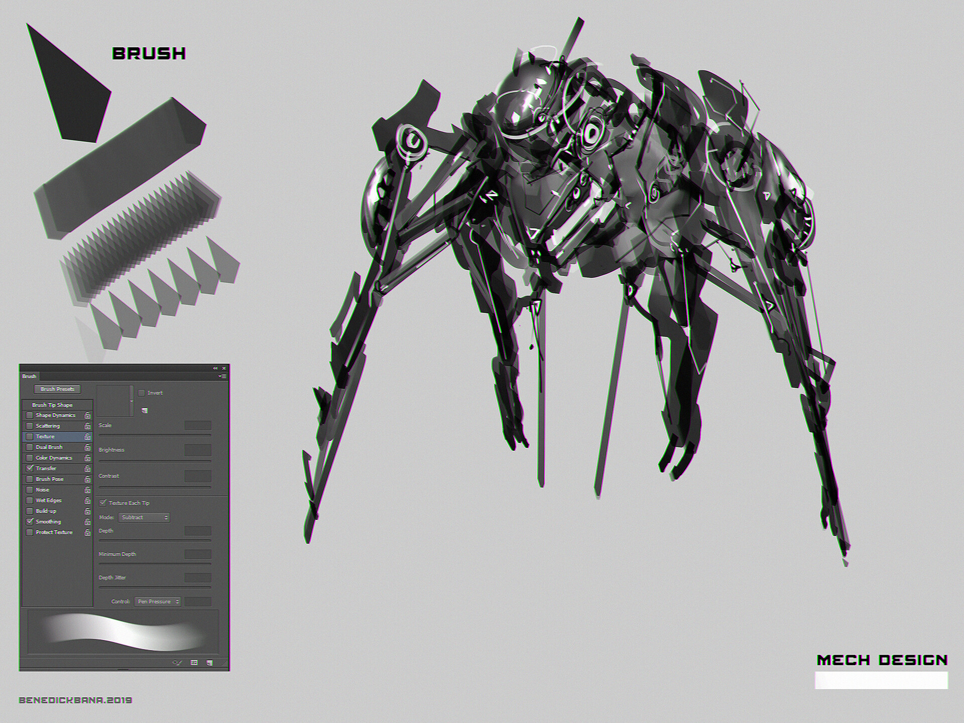 Mech Design using CustomBrush