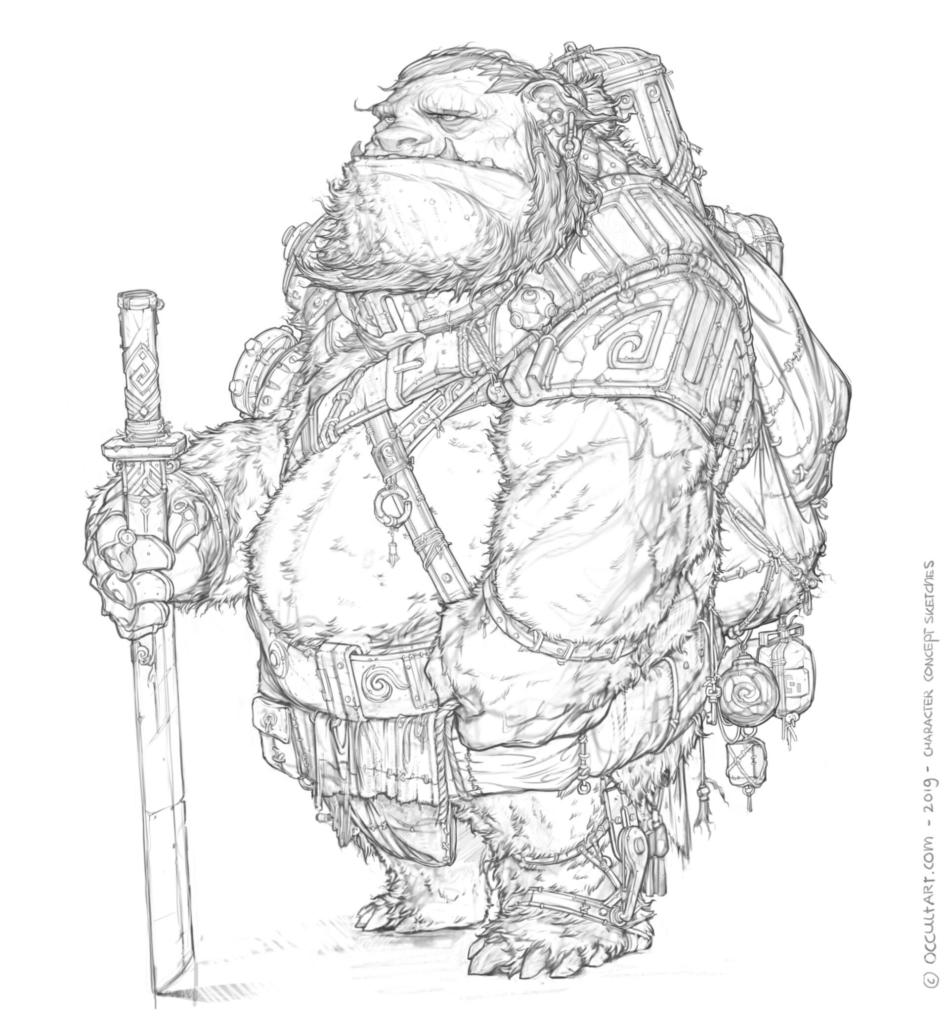 Occultart   occultart concept bear sketch a01 012 009