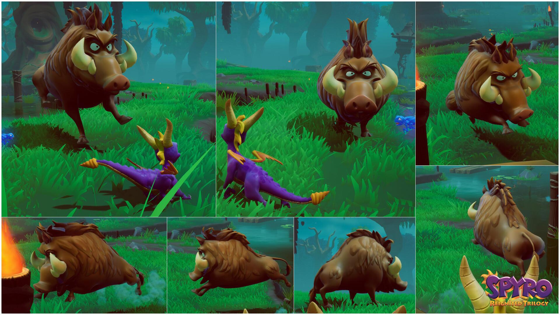 Alexandra jackson spyrotrilogy boar collage