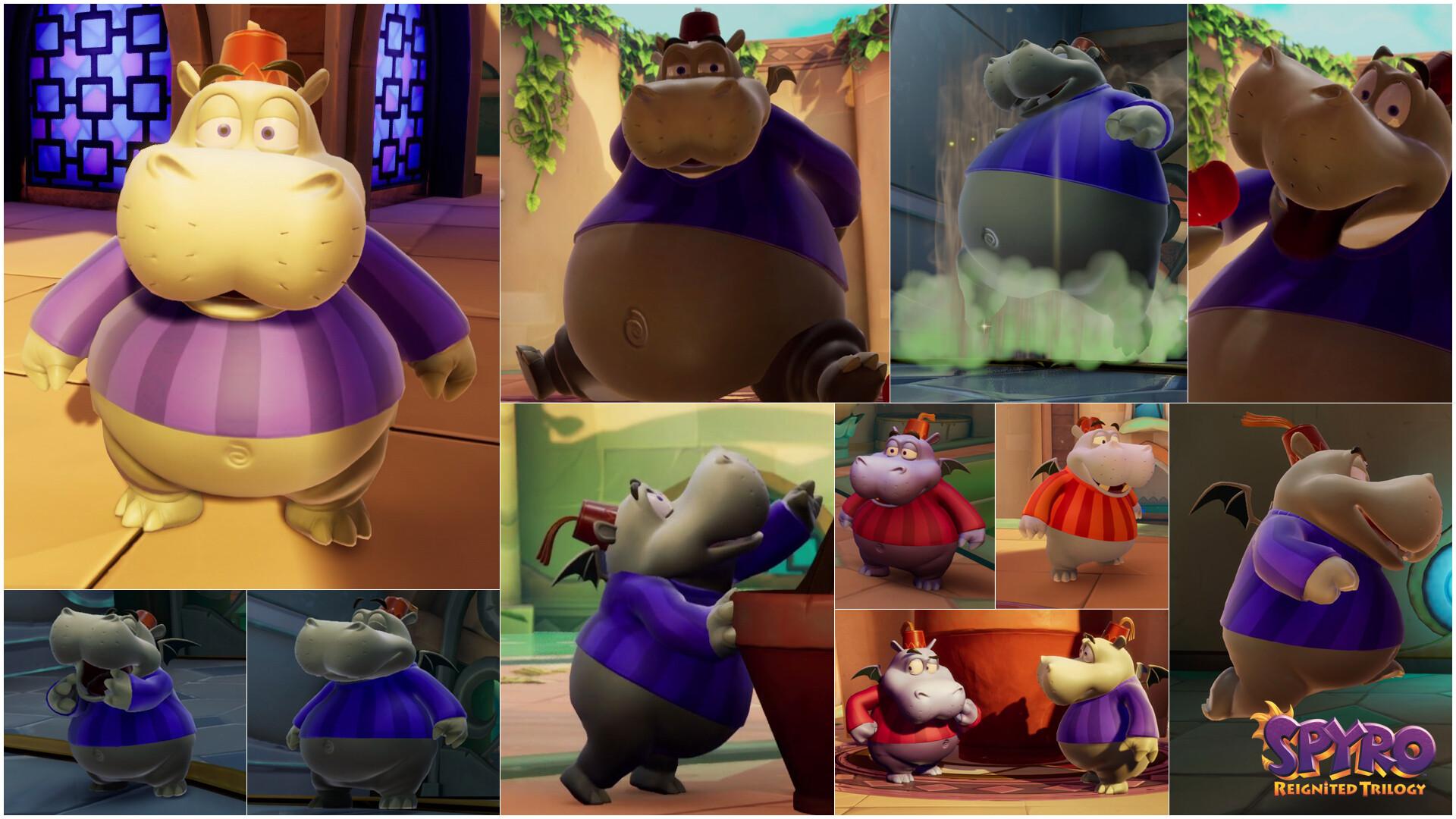 Alexandra jackson spyrotrilogy hippos collage