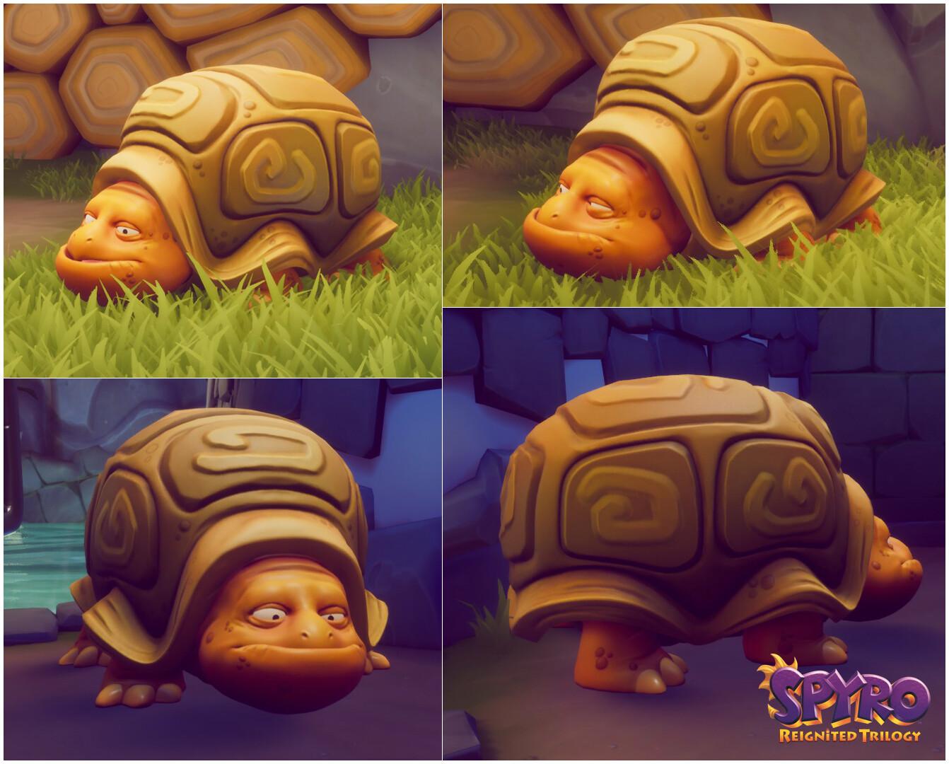 Alexandra jackson spyrotrilogy turtle collage