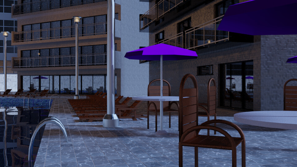 Pool at Night 7