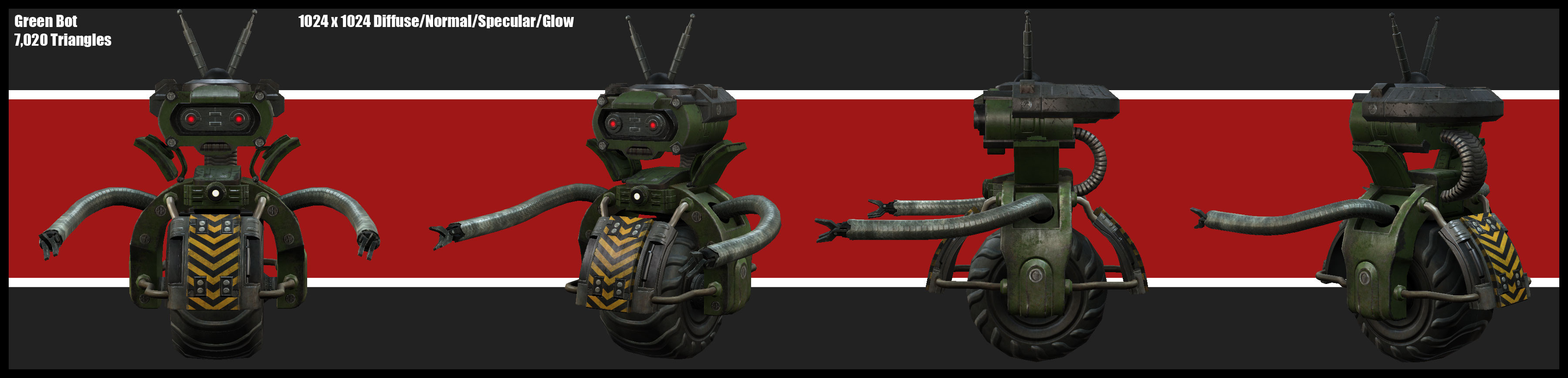A robot inspired by the 1980s Teenage Mutant Ninja Turtles cartoon.