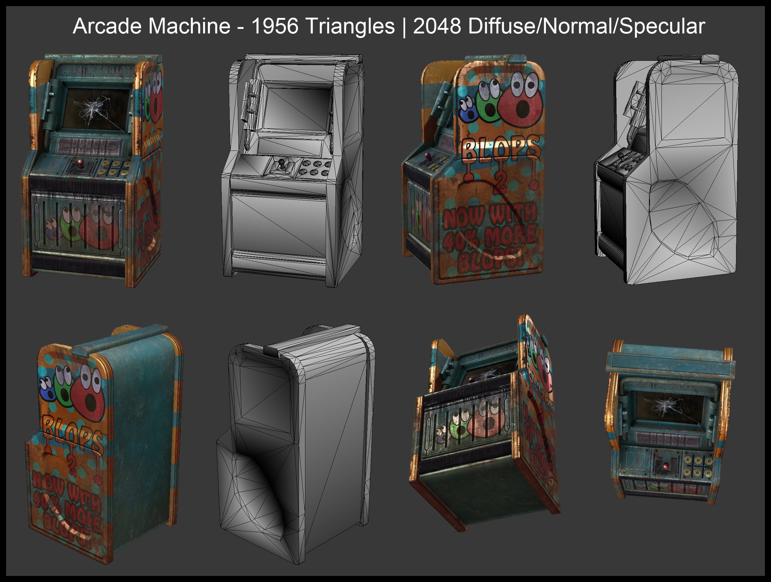 BLOPS arcade machine. BLOPS used to be the industry leader but now lags behind Forknife and PubeG.