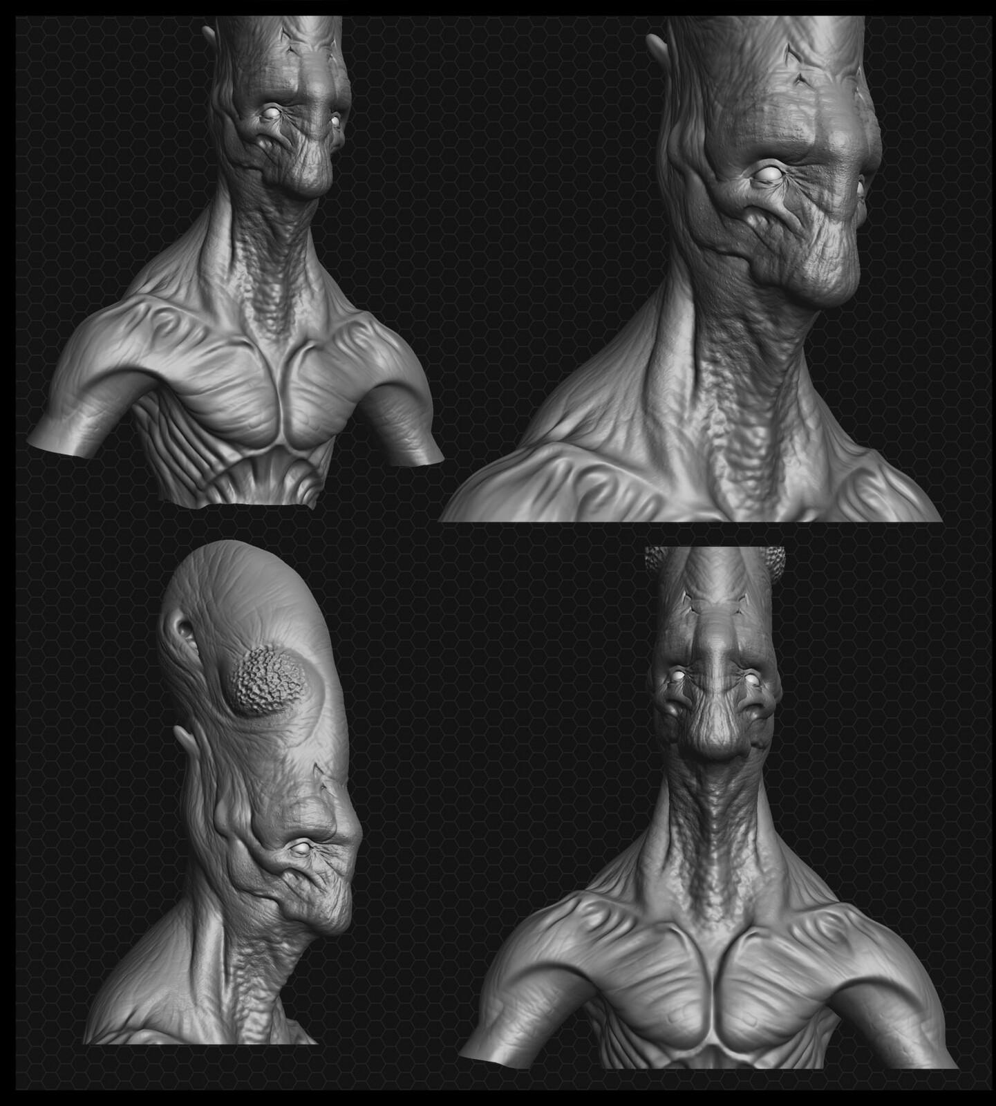 Long head alien. Aliens, Independence Day, Starcraft, etc.