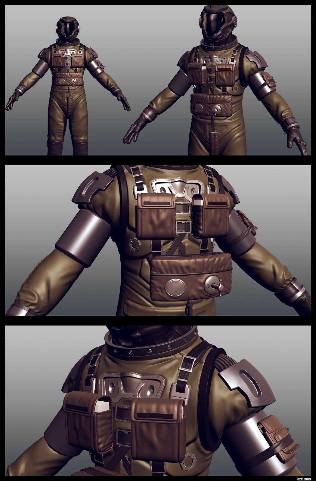 Space suit. That shoulder pad though.