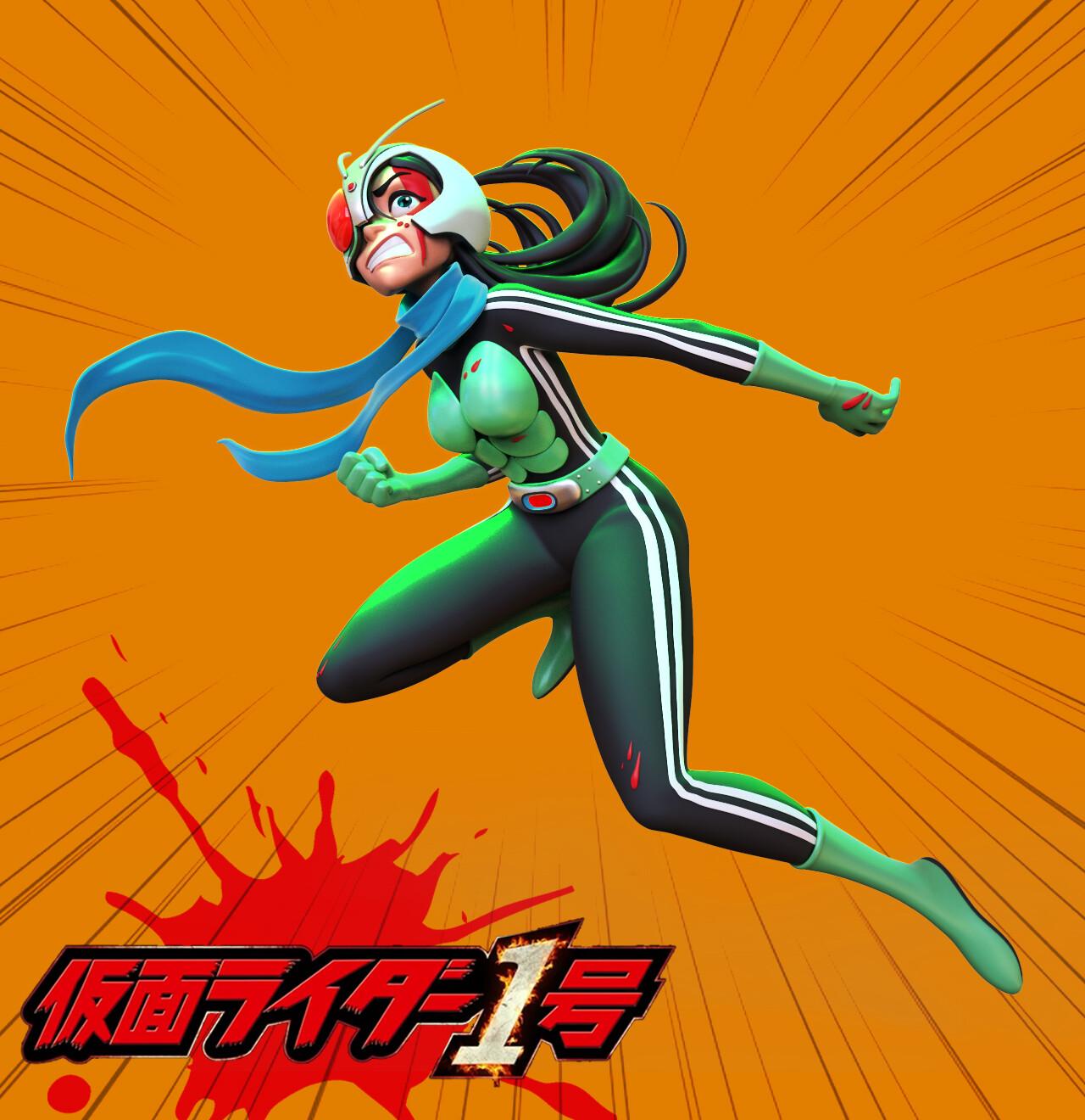 Finished render ver. Kamen rider 01 girl (orange)