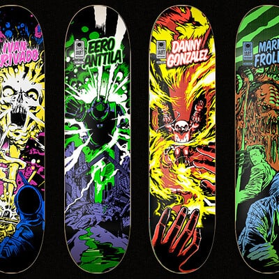 Jordi ponsa jart skateboards by sentinel at work comic series1