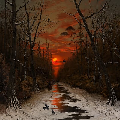 Giorgos tsolis winter s crimson sunset small res