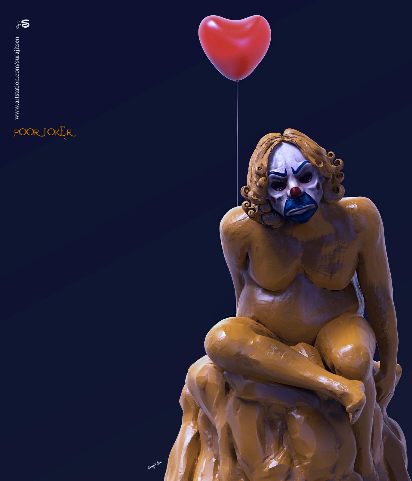 #poorjoker Updated version one of my Sculptures...