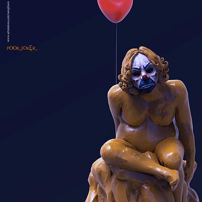 Surajit sen poor joker digital sculpture surajitsen oct2019