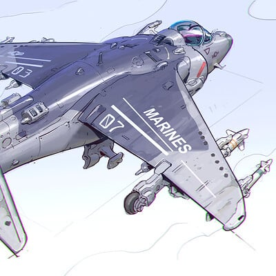 Michal kus av8 harrier sketch