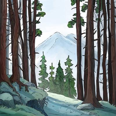 Oixxo art 2019 08 22 winter forest2