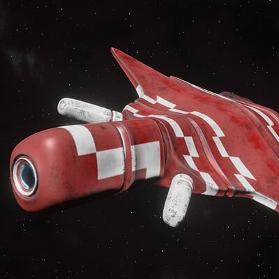 """Red Kabre"" - Spaceship Design"