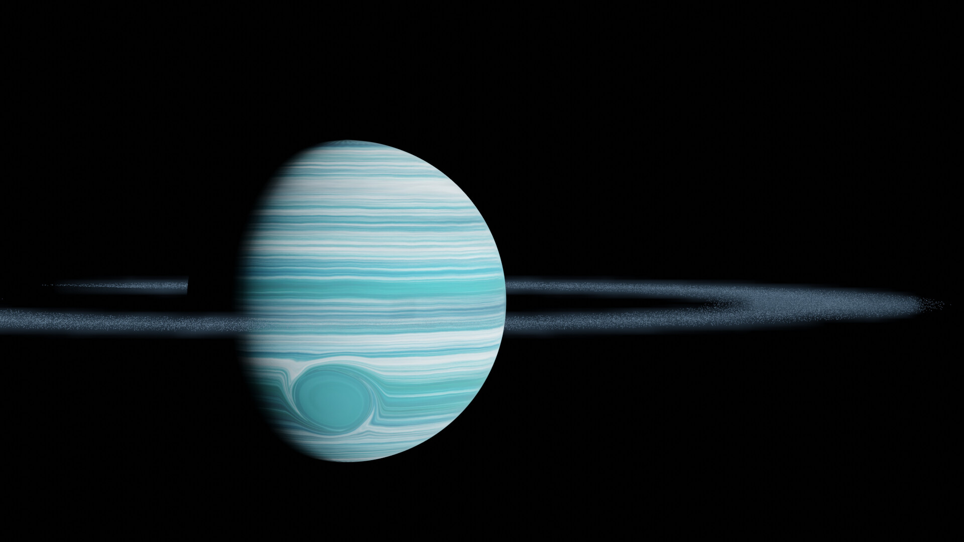 Shinseiko kuromatsu awesome gas giant roid rings 4 with volumetric dust