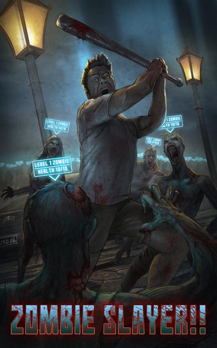 Zombie Slayer!! A LitRPG Apocalypse Book Cover