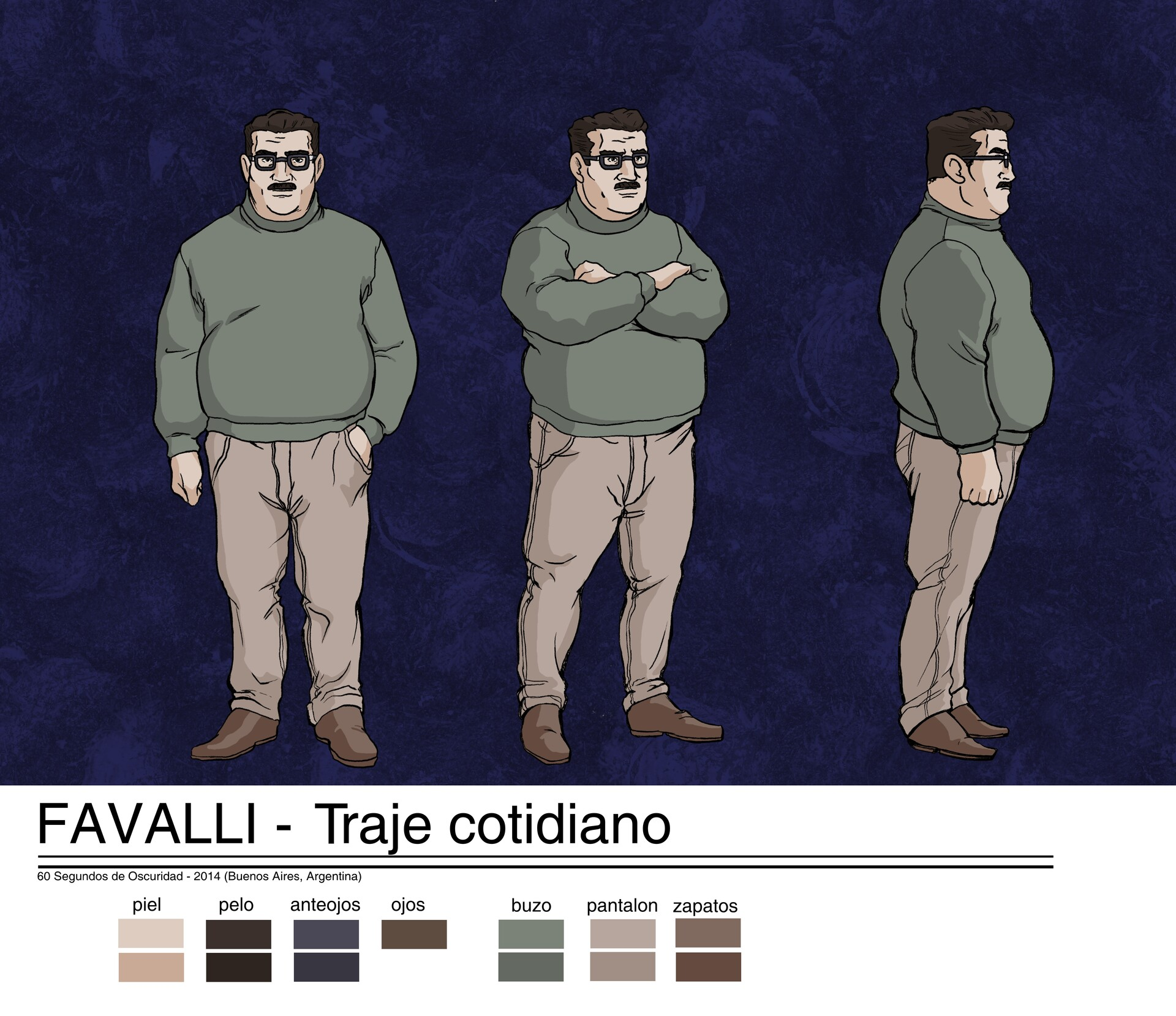main character design: javier domenichini