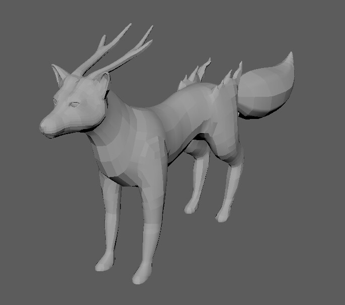 Final 3D model for the fox character in Primal Knockout. Poly count: 8588 tris.