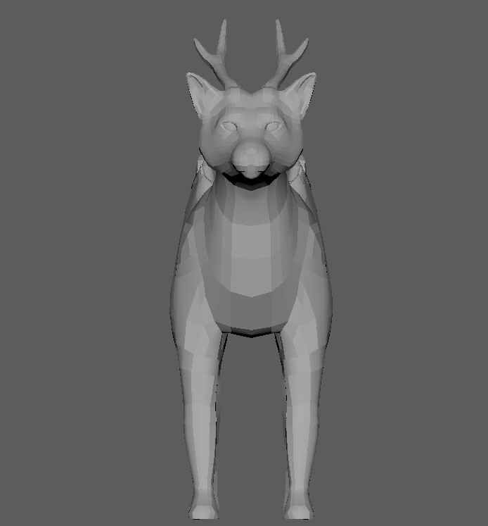 Front view. Poly count: 8588 tris.