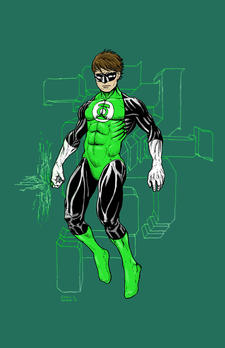Donny yi george 002 green lantern donny yi george 2018 color