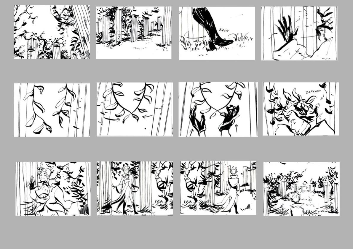 storyboard - opening scene