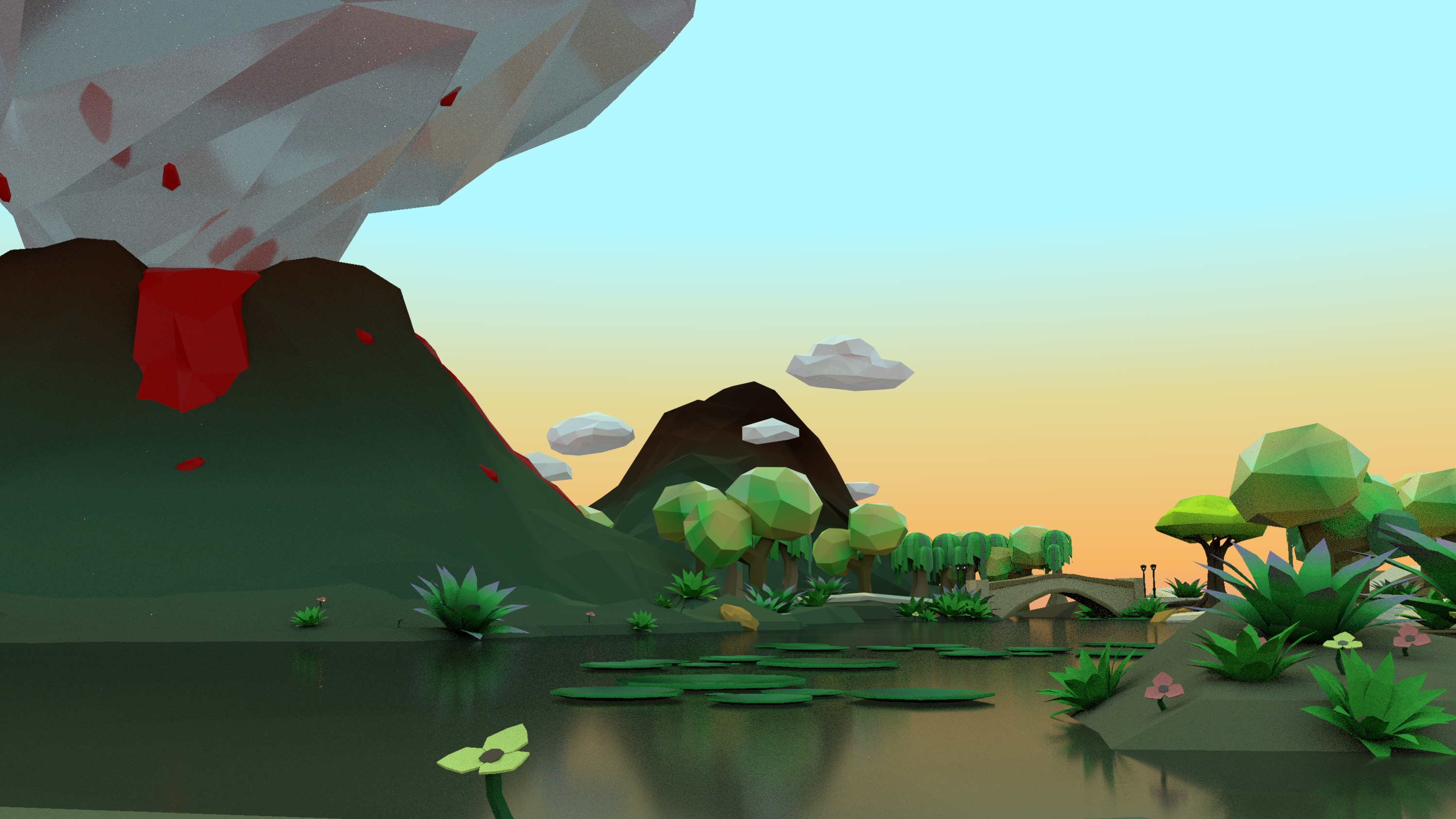 Low Poly Envrionment - Day time