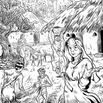 Teresa guido village and villagers of gumma byteresaguido