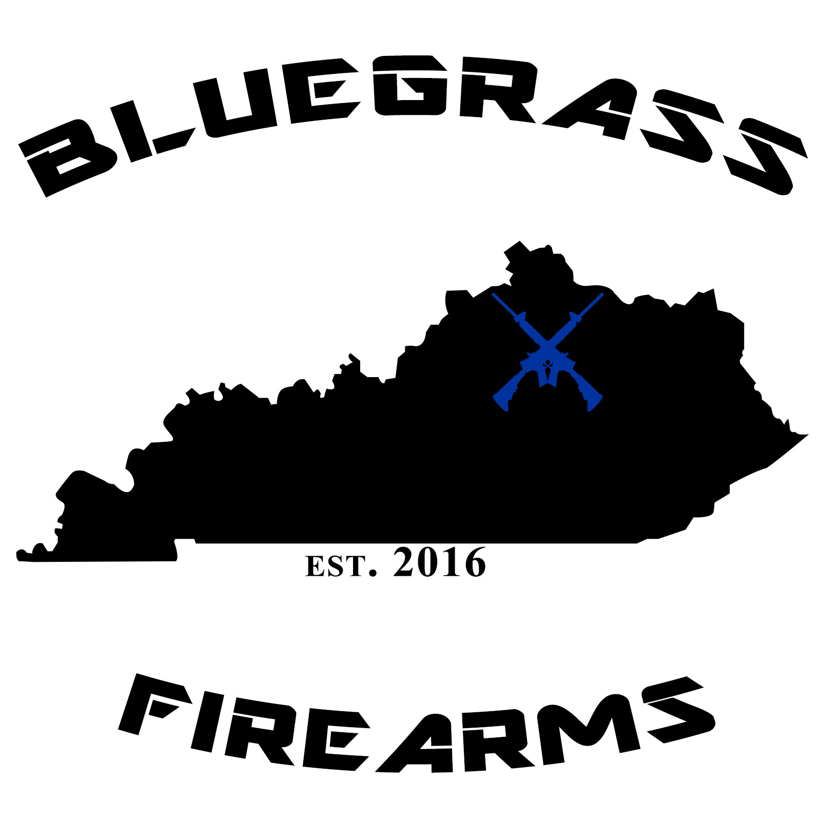The second iteration of the logo for Bluegrass Firearms