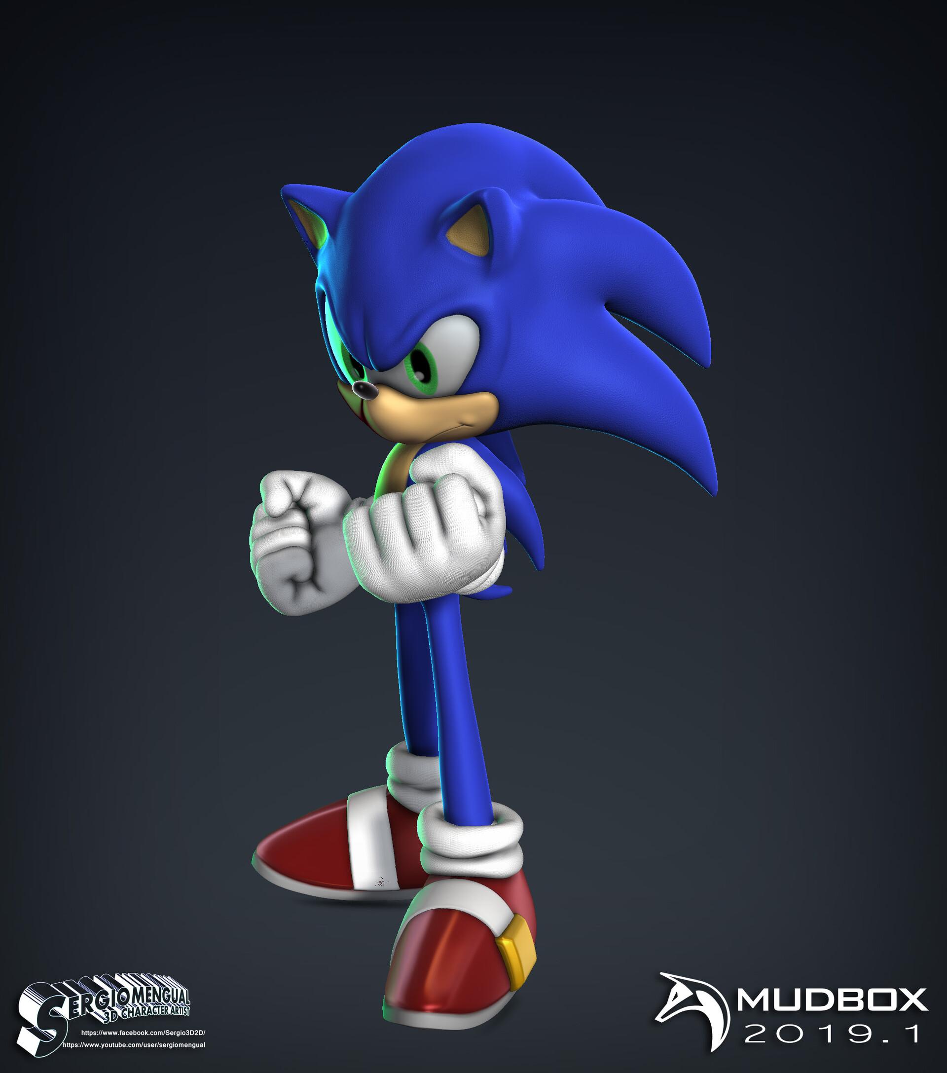 Artstation Sonic The Hedgehog Mudbox 2019 1 Speedsculpt Sergio Gabriel Mengual